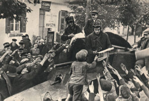 Встреча бойцов Красной Армии