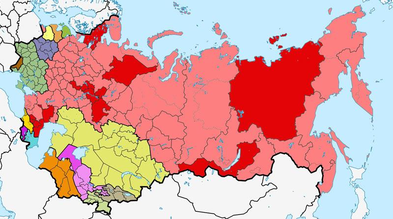 Карта Советского Союза