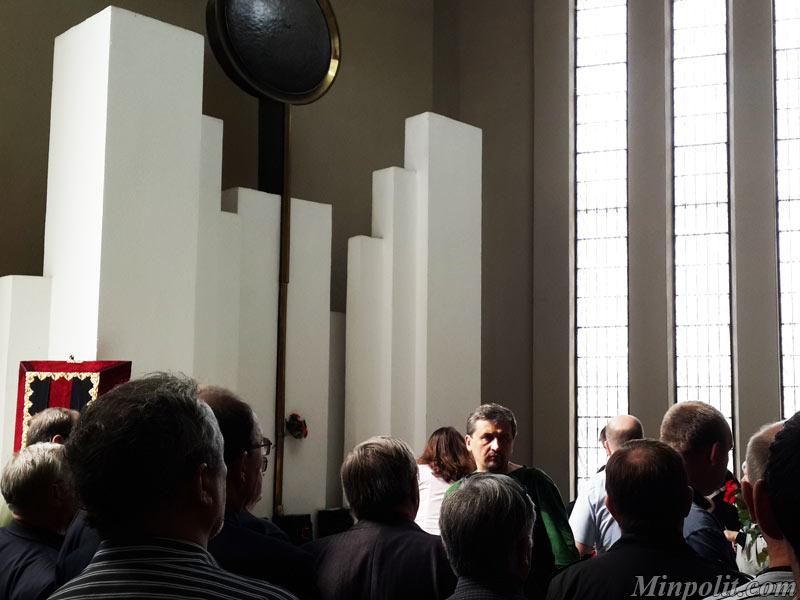 В ритуальном зале Минского крематория