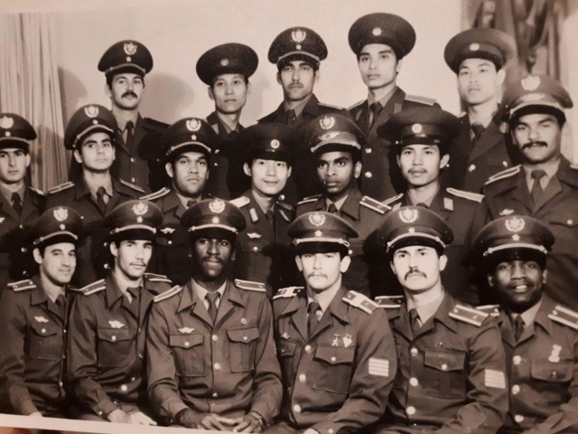 Группа кубинских курсантов